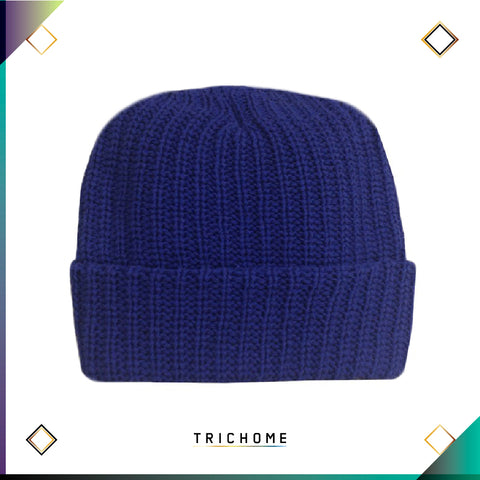 Pacific Northwest Heavy Knit Beanie / Ultra Blue