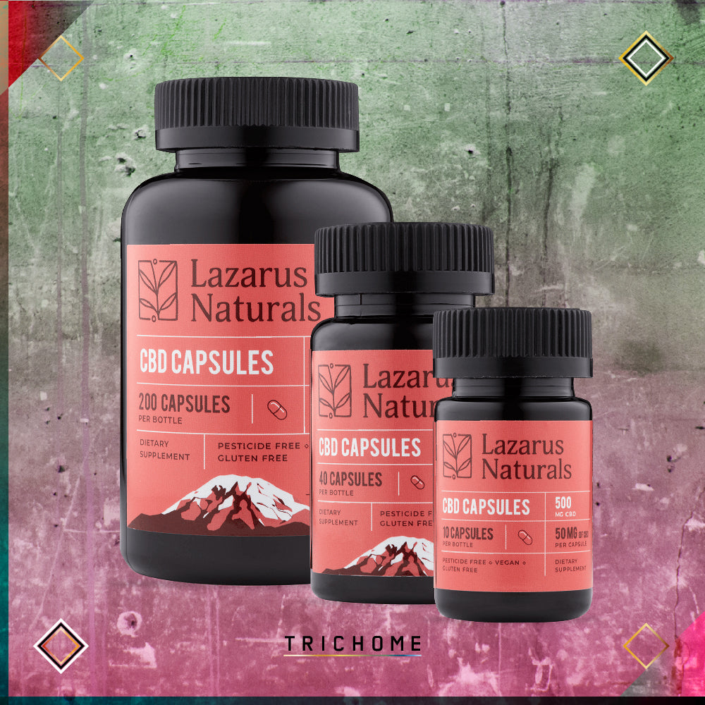 Lazarus Naturals - Full Spectrum CBD 50mg Strength Capsules