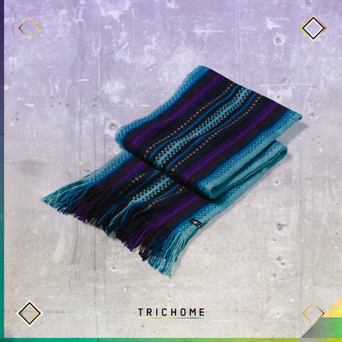 Meadow Line Scarf / Wave Blue & Purple