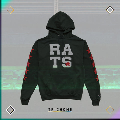 Rats Star Hooded Sweatshirt