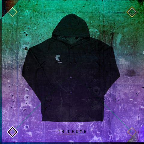 Triple Yin Yang Hooded Coaches Jacket [Solid]