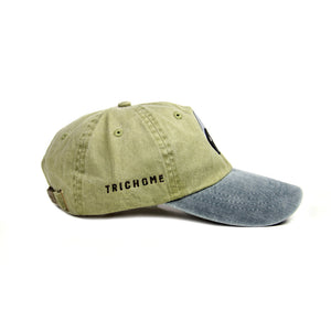 Triple Yin Yang Two-Tone Cap [Olive/Dark Grey]