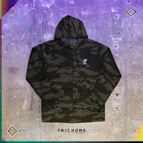 Triple Yin Yang Hooded Coaches Jacket [Camo]