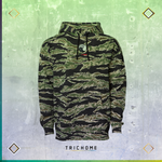 Tiger Camo Triple Yin Yang Pullover Hoodie