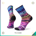 PhD® Outdoor Ultra Light Watercolor Stripe Print Crew Socks