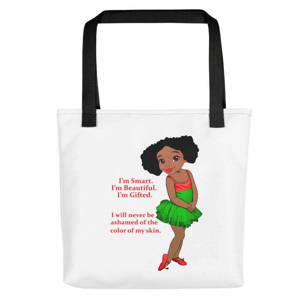 "Girl's ""Smart, Beautiful, Gifted"" Tote bag"