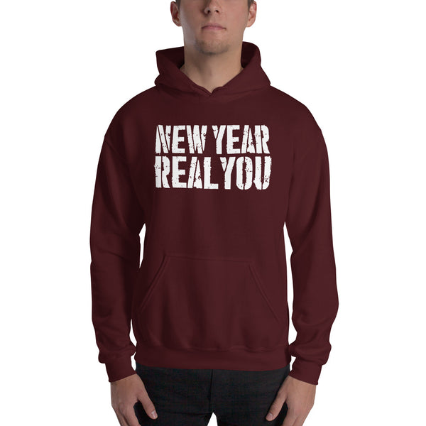 """New Year Real You"" Hooded Sweatshirt"