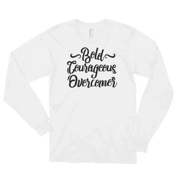 "Women's ""Bold, Courageous, Overcomer"" Long Sleeve t-shirt"