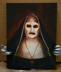 The Conjuring Valak Nun Painting