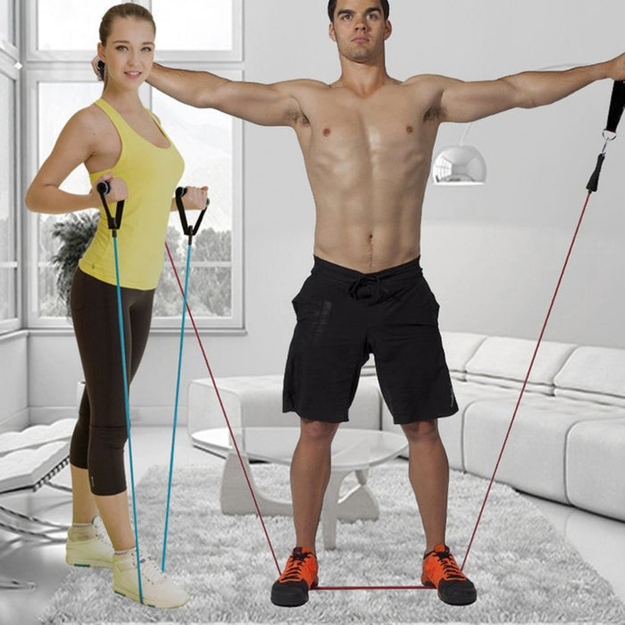 Resistance Bands Set with Door Anchor Attachment and Ankle Strap