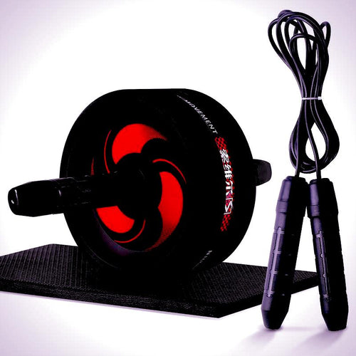 Ab Roller, Jump Rope, Exercise Mat - Combo