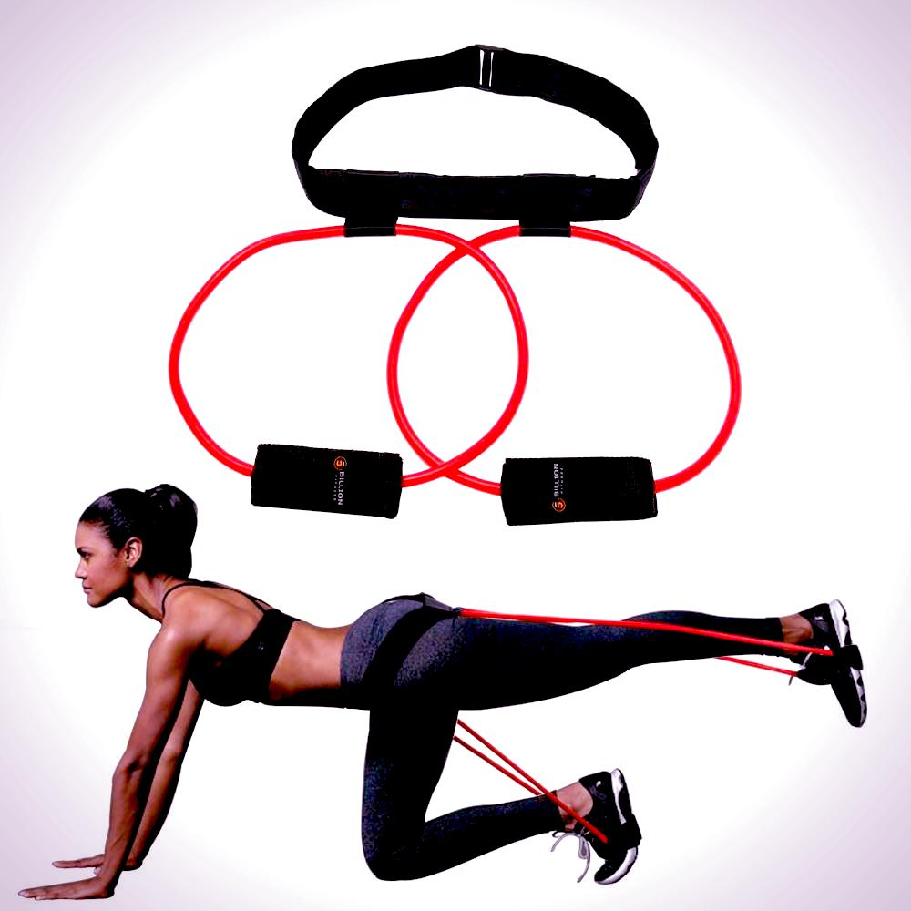 Resistance Bands with Adjustable Waist Belt