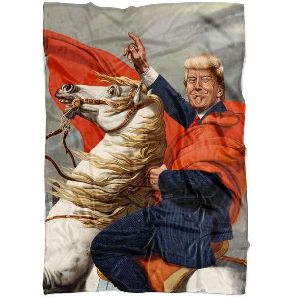 Trump Warrior Fleece Blanket - THE MAGA SHOP