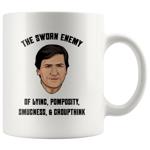Tucker Carlson Sworn Enemy Mug