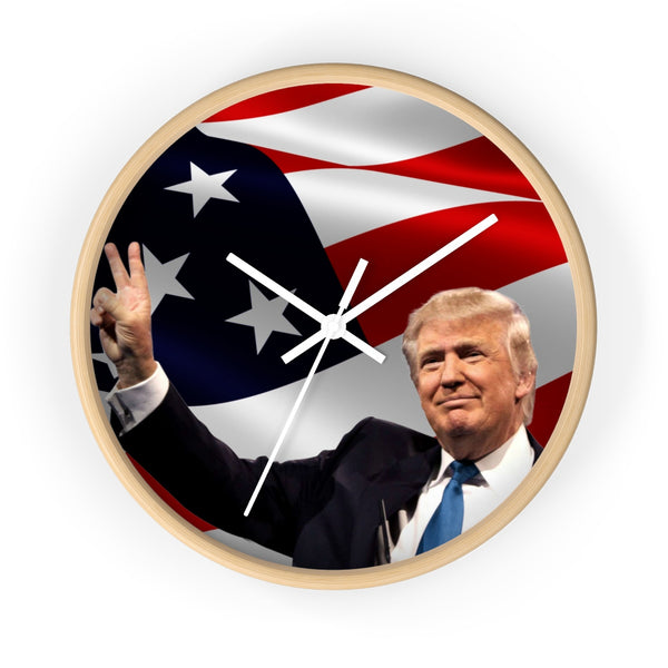 President Trump Wall Clock