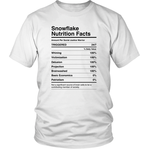 Snowflake Nutrition Facts - THE MAGA SHOP