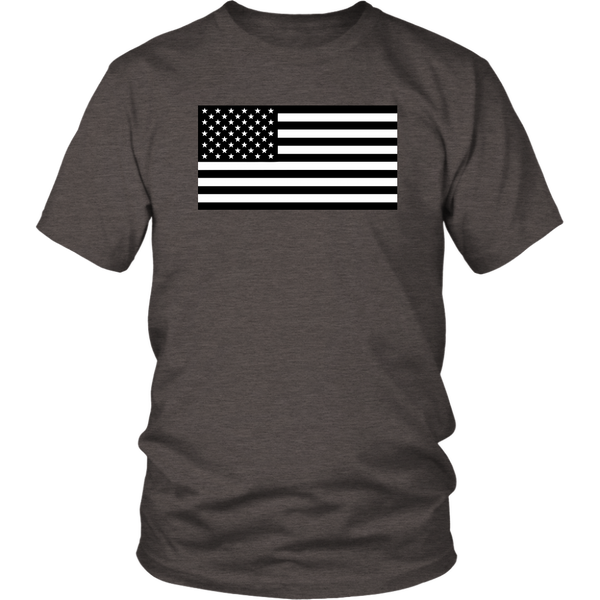 Black and White American Flag