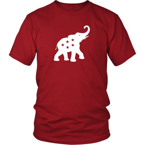 2020 GOP Elephant | White on Red/Black