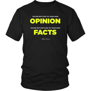 Opinions VS. Facts - Pence Quote