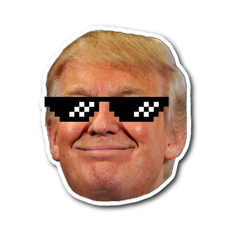 Trump Thug Life Sticker - THE MAGA SHOP