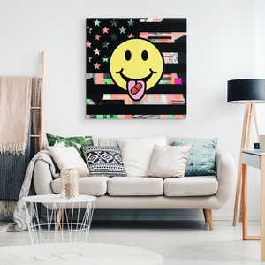 Red Pill Smiley Canvas Art - THE MAGA SHOP