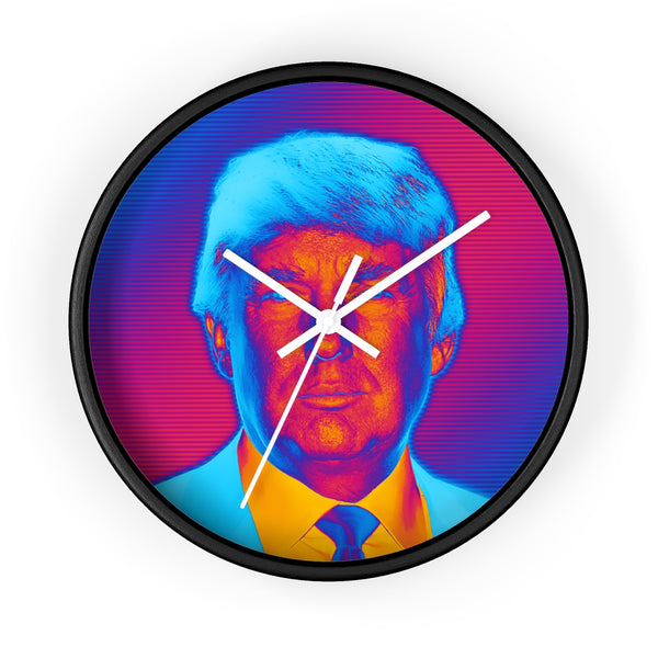 Vibrant Trump Wall Clock - THE MAGA SHOP