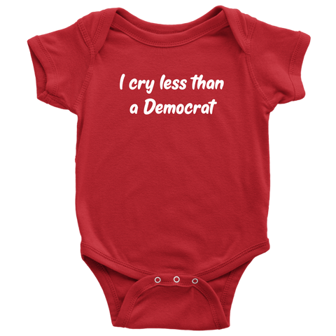 I Cry Less Than a Democrat Onesie