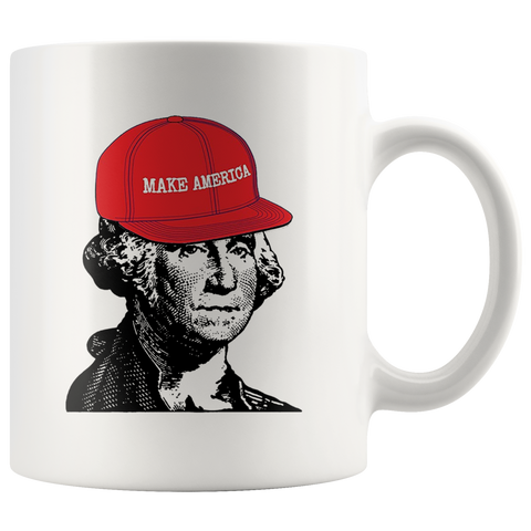 George Washington Make America Hat Mug