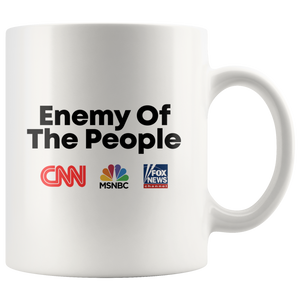 Enemy of the People Mug (CNN, MSNBC, FOX NEWS)