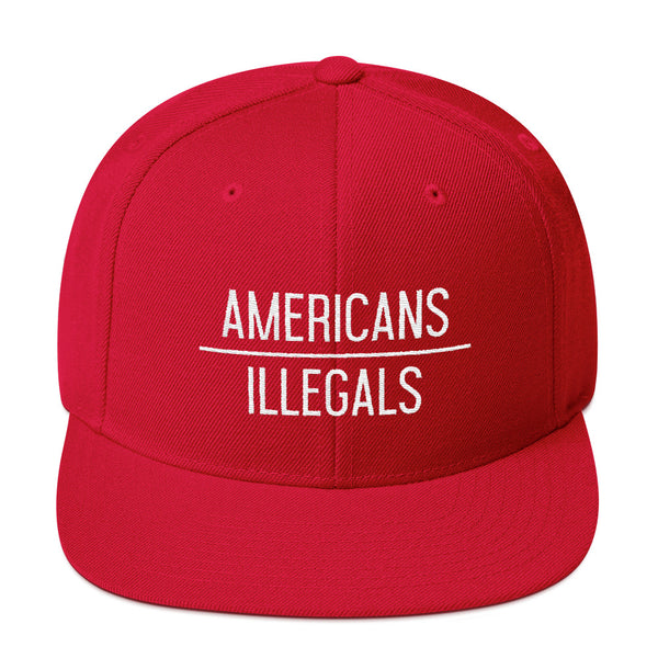 Americans Over Illegals Snapback - THE MAGA SHOP
