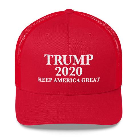 Trump 2020 KAG Trucker Cap (White Embroidery)
