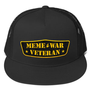 Meme War Veteran Trucker Hat