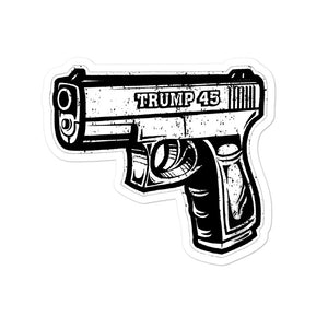 Trump 45 Gun Sticker