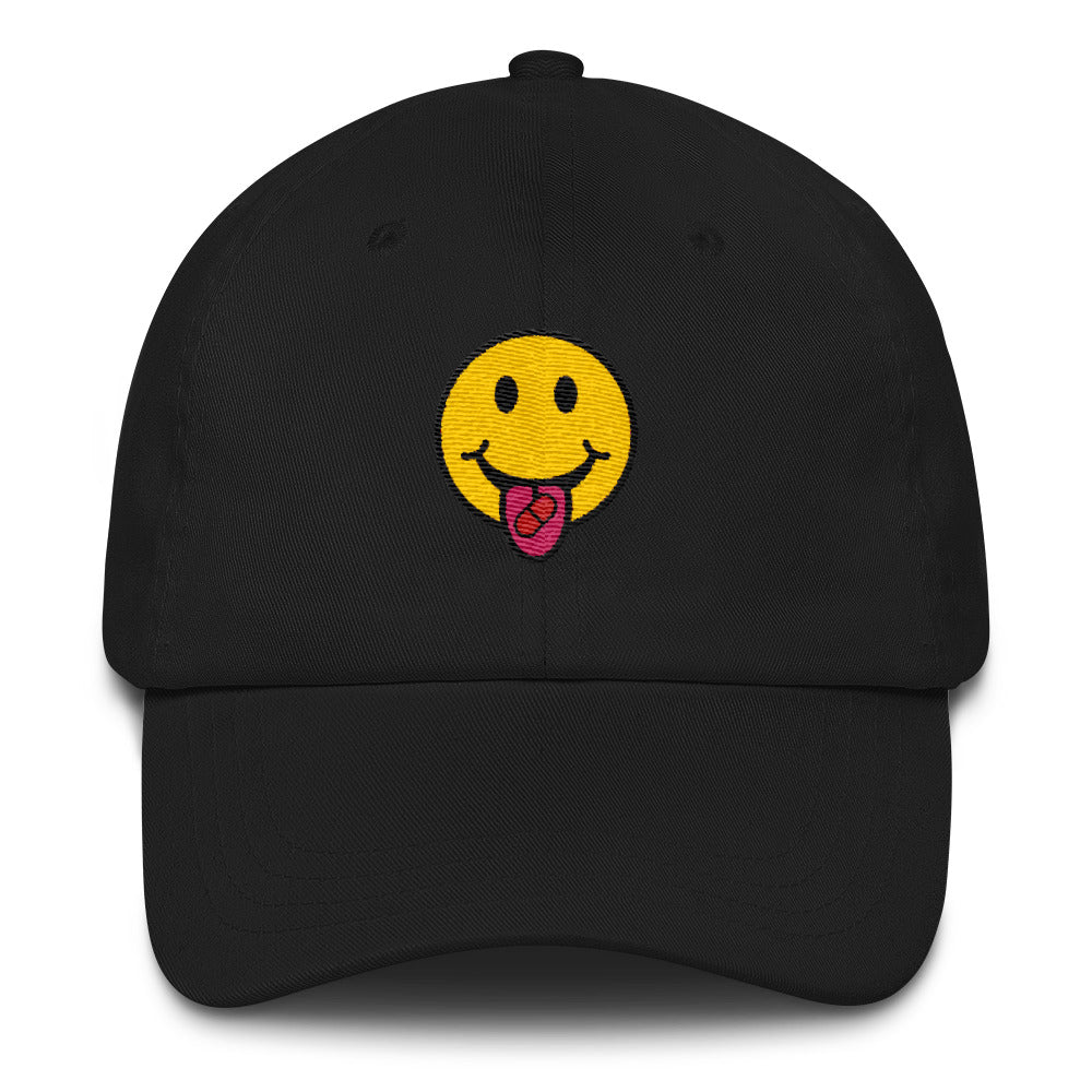 3ba7d577bb69c ... Red Pill Smiley Dad Hat - THE MAGA SHOP ...