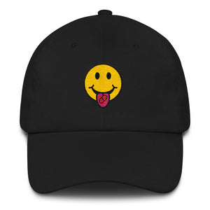 Red Pill Smiley Dad Hat - THE MAGA SHOP