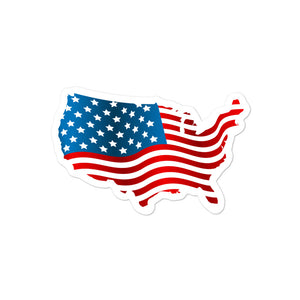 USA American Flag Sticker