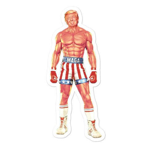 Trump Action Figure Sticker