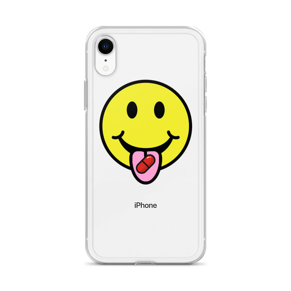 Red Pill Smiley iPhone Case - THE MAGA SHOP
