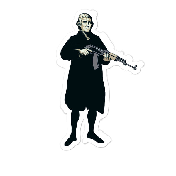 Thomas Jefferson AK-47 Sticker