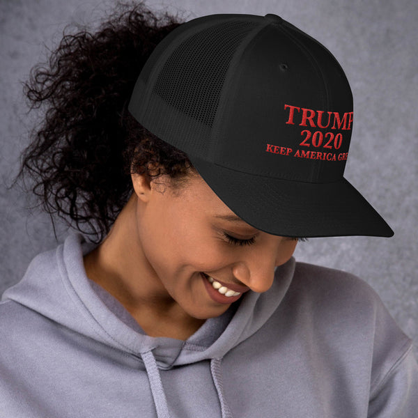 Trump 2020 KAG Trucker Cap (Red Embroidery)