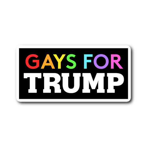 Gays For Trump Sticker - THE MAGA SHOP