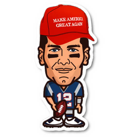 Tom Brady MAGA Hat Sticker