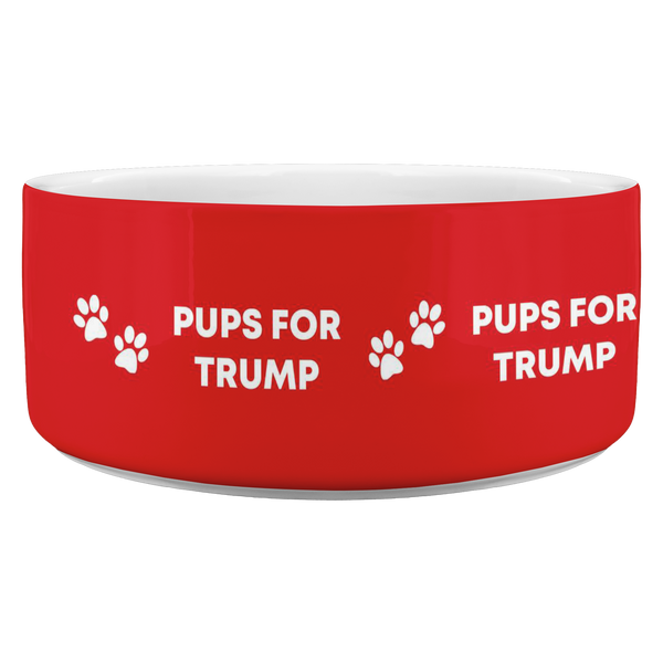 Pups For Trump Dog Bowl