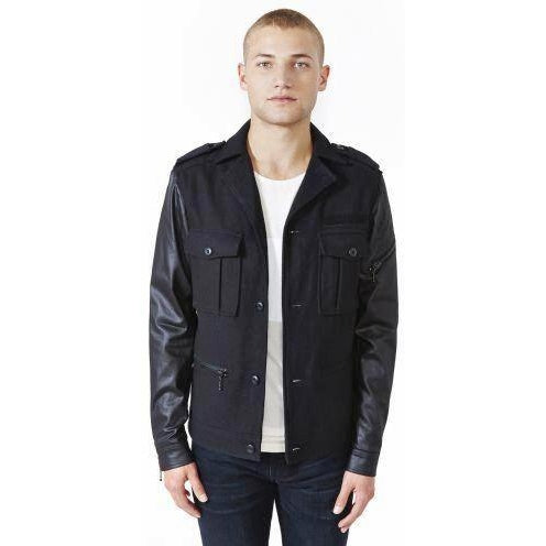 Kill City Men's Wool Blend Rock Military Jacket
