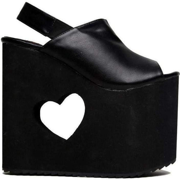 Yru Women'S Bb Black Wedge - Salemonster