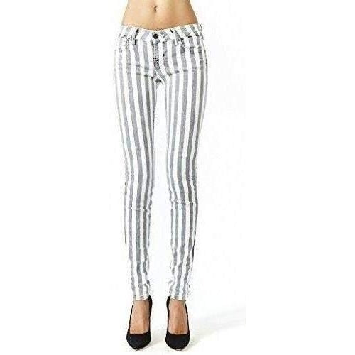 Kill City Ladies Stretch Twill Vertical Striped Hi Wire Skinny Jeans-Salemonster