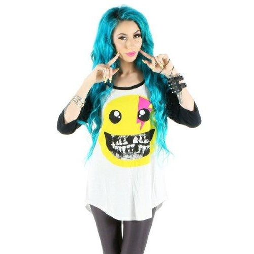 Iron Fist Rotten Smile Oversized Raglan Tee