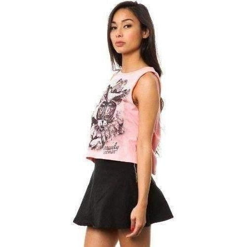 Iron Fist Lone Pussy Pink Crop Muscle Tank-Salemonster