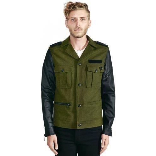 Kill City Men's Wool Blend Rock Military Jacket-Salemonster