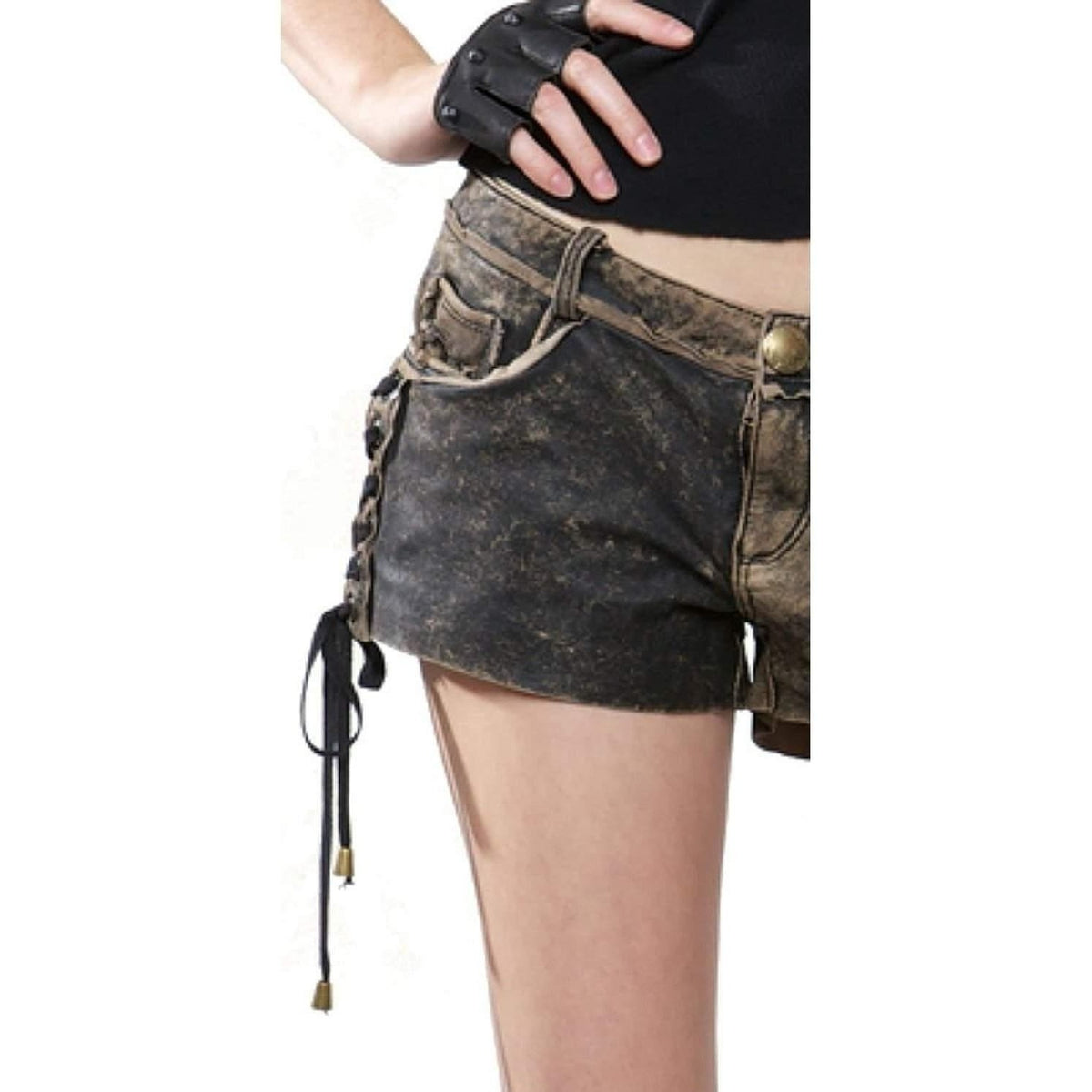 LIP SERVICE BIKER ROCKER GENUINE LEATHER SHORTS